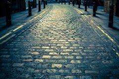 Carril Cobbled Londres Imagenes de archivo