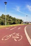 Carril de bicicleta Foto de archivo libre de regalías