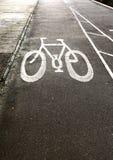 Carril de bicicleta Fotografía de archivo libre de regalías