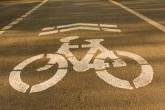 Carril de bicicleta Foto de archivo
