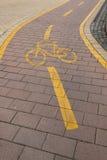 Carril de bicicleta Fotografía de archivo