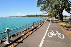 Carril de bicicleta en Auckland, Nueva Zelanda Imagen de archivo