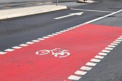 Carril de bicicleta de Estocolmo foto de archivo