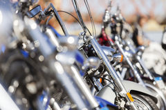 Carril de encargo de las motos Foto de archivo libre de regalías