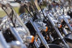 Carril de encargo de las motos Imagenes de archivo