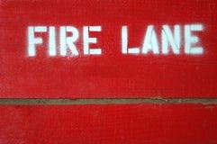 Carril de fuego Fotografía de archivo libre de regalías