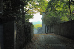 Carril de la aldea de la caída Imagen de archivo libre de regalías