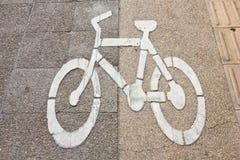 Carril de la bici Foto de archivo