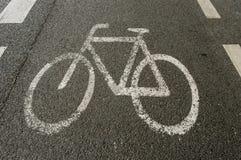 Carril de la bici Fotografía de archivo libre de regalías