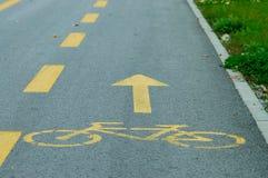 Carril de la bici Fotos de archivo libres de regalías