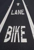Carril de la bici de la calle Fotografía de archivo