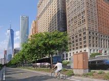Carril de la bici de Nueva York Fotografía de archivo libre de regalías