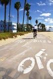 Carril de la bici en la playa de Santa Mónica Imagenes de archivo