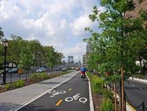 Carril de la bici de Nueva York Imagenes de archivo