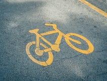 Carril de la bici, símbolo de la bici Fotografía de archivo