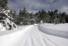 Carril de la nieve Imagen de archivo libre de regalías