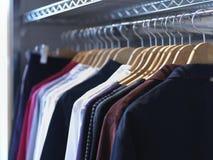 Carril de la ropa Fotografía de archivo libre de regalías