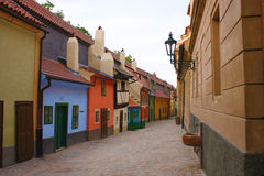 Carril de oro en Praga Imagen de archivo libre de regalías