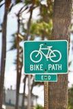 Carril dedicado de la bicicleta Imagen de archivo libre de regalías