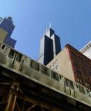 Carril del EL en Chicago Fotos de archivo