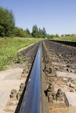 Carril del ferrocarril Fotografía de archivo