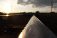 Carril del ferrocarril Imagenes de archivo