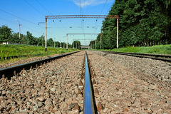 Carril del ferrocarril del hierro Fotografía de archivo libre de regalías