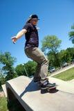 Carril del skater que muele en Imágenes de archivo libres de regalías