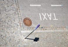 Carril del taxi Fotos de archivo libres de regalías