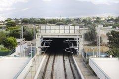 Carril del tren Fotografía de archivo