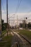 Carril del tren Fotografía de archivo libre de regalías
