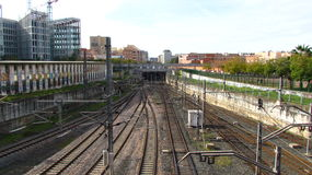 Carril del tren Foto de archivo