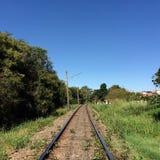 Carril del tren Imagen de archivo libre de regalías