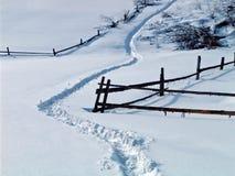 Carril en nieve Fotografía de archivo
