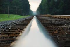 Carril ferroviario Foto de archivo