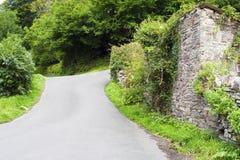 Carril inglés del país en Devon Fotografía de archivo