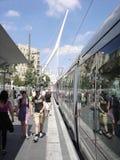 Carril ligero de Jerusalén Imágenes de archivo libres de regalías