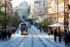 Carril ligero de Jerusalén Foto de archivo