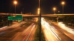Carril múltiple del tráfico de la carretera, lapso de tiempo