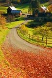 Carril rural en otoño fotos de archivo