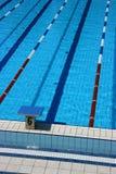 Carril seises de la piscina Foto de archivo