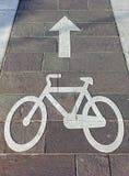 Carril urbano de la bici Foto de archivo