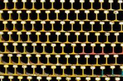 Carriles de acero. imagen de archivo libre de regalías