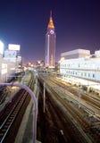Carriles de la estación de tren de la ciudad de Tokio Imagen de archivo libre de regalías