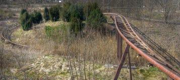 Carriles de la montaña rusa Foto de archivo libre de regalías