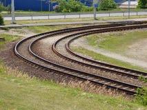 Carriles de la tranvía Imagen de archivo libre de regalías