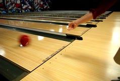 Carriles del callejón de bowling Fotos de archivo