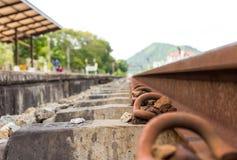 Carriles del ferrocarril Imagen de archivo libre de regalías