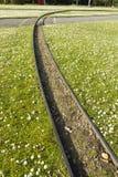 Carriles del ferrocarril de Minituare Fotos de archivo
