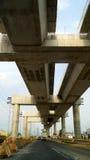 Carriles del puente del tren de alta velocidad bajo construcción foto de archivo libre de regalías